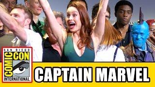 Download CAPTAIN MARVEL Comic Con Panel Brie Larson Announcement Video
