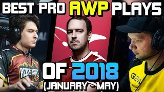 Download THE BEST PRO AWP PLAYS OF 2018! (CRAZY PLAYS, ACES, CLUTCHES!) - CS:GO Video