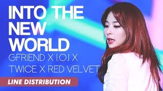 Download GFriend x I.O.I x TWICE x Red Velvet - Into The New World | Line Distribution Video