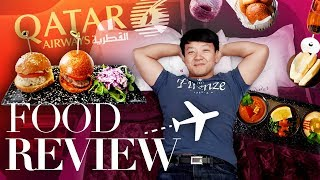 Download World's BEST BUSINESS CLASS! FOOD REVIEW of Qatar Airways Business Class From New York to Istanbul Video