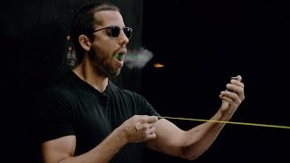 Download David Blaine catches a bullet in his mouth | David Blaine Video