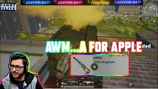 Download AWM..A FOR APPLE| CARRYMINATI | PUBG MOBILE | HIGHLIGHTS Video