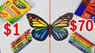 Download $70 PREMIUM ELITE CRAYONS VS $1 CRAYOLA CRAYONS: Which is worth the money? Video
