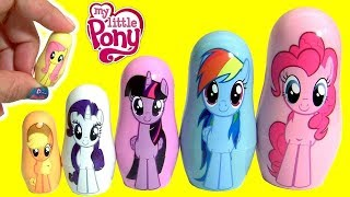 Download MY LITTLE PONY THE MOVIE FASH'EMS Mermaid Pinkie Pie MLP PLAY-DOH Stacking Cups Video