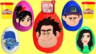 Download Disney RALPH BREAKS THE INTERNET Play-doh EGG Surprises with Vanellope & Fix it Felix Video