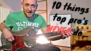 Download 10 Things Professional Musicians NEVER do (hopefully!) Video