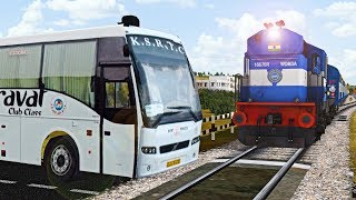 Download Crazy vehicles at unmanned level crossing in indian train simulator Video