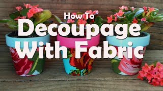 Download DIY Craft Tutorial: How To Decoupage With Fabric And Mod Podge Video