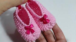 Download DIY ! Tejer patucos de bebé con dos agujas I Baby Booties I cucaditasdesaluta Video