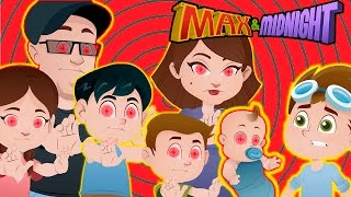 Download MIND CONTROL!!! FUNnel Vision Family turns against Max!!! Kids Animation! Max & Midnight Episode 4 Video