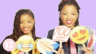 Download Chloe x Halle Tell Their Most Embarrassing Stories With Emojis Video