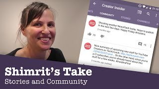 Download Stories and Community - Shimrit's Take! Video