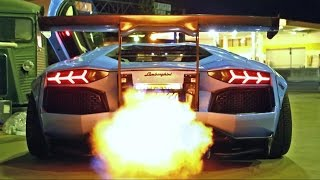Download INSANE FLAMES! Lamborghini Aventador LP720-4 Ft. Liberty Walk/Armytrix/Airrex/Forgiato Video