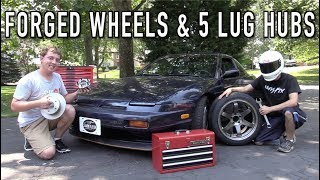 Download The 240SX Gets Forged Wheels & a 5-Lug Conversion! Video