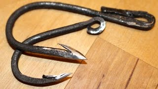 Download Forged fishhook fishing challenge! Can I catch a fish with a hand forged fish hook? Video
