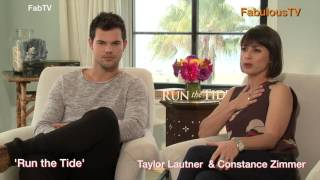 Download Taylor Lautner & Constance Zimmer discuss ″Run the Tide″ Video