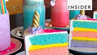 Download Rainbow Lemonade Topped With Unicorn Cake Video