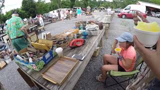 Download At the flea market with the kids shopping and selling a ton of good treasures to make some cash Video