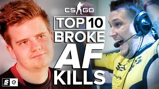 Download Top 10 Broke AF Kills in CS:GO (Eco Round Aces) Video