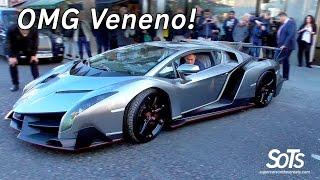 Download £6Million Lamborghini Veneno CHAOS in London! Video