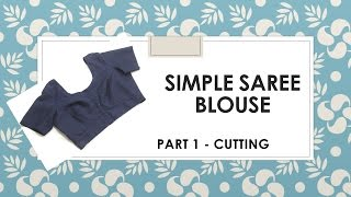 Download How to make a simple Saree Blouse Marking and Cutting Video