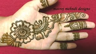 Download easy simple mehndi henna designs for hands|matroj mehndi designs Video