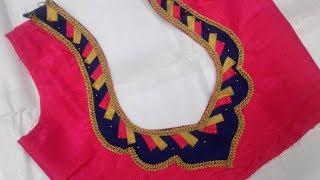 Download latest latest blouse back neck design Video