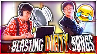 Download Blasting INAPPROPRIATE Songs in the Library PRANK (IN PUBLIC) Video