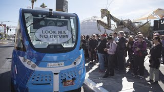 Download Self-driving bus company says vehicle safe following crash Video