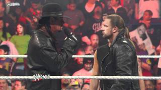 Download Raw: Shawn Michaels interrupts Triple H and The Undertaker Video