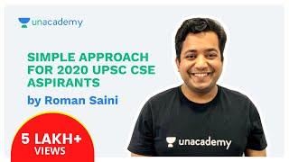 Download Simple Approach for 2020 UPSC CSE aspirants - Part 1/2 by Roman Saini Video
