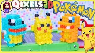 Download Qixels 3D Pokemon Pikachu Squirtle Charmander Build - Kids Toys Video