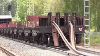 Download Капитальный ремонт ж.д. часть 6/8 - Выгрузка рельсовых плетей / Track repair 6/8 - Long rails 1 Video
