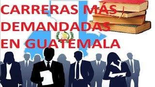 Download TOP 10 CARRERAS MÁS DEMANDADAS EN GUATEMALA Video
