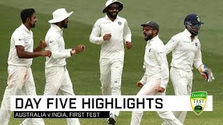 Download Aussies fight hard but India win gripping contest | First Domain Test Video