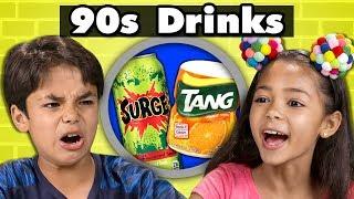 Download KIDS TRY 90s DRINKS! | Kids Vs. Food Video