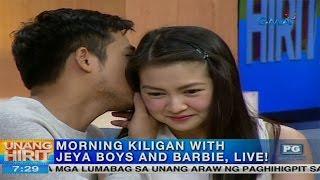 Download Unang Hirit: Morning kiligan with JEYA boys and Barbie Forteza Video