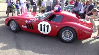 Download Ferrari 250 GTO '64 vs 3 Cobra's and 3 Shelby Cobra Daytona coupe's at Zandvoort! Video