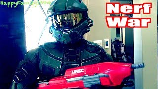 Download Nerf War: Zombies Attack - Halo Master Chief Joins the Team! - Part 17 Video