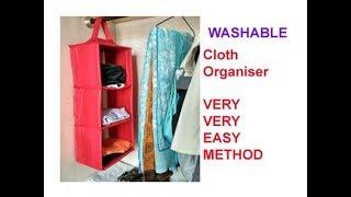 Download DIY Wardrobe Organizer from Old Clothes - Wardrobe organization idea Video