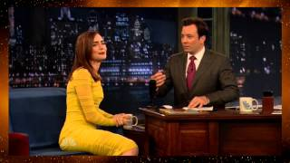 Download Lily Collins on Late Night with Jimmy Fallon 2013-08-05 (HD) Video