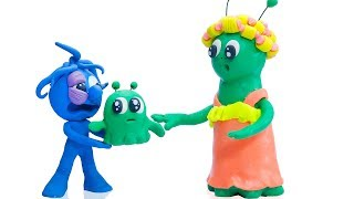 Download CLAY MIXER: MESSY ALIEN BABYSITTING 💖 Play Doh Cartoons For Kids Video