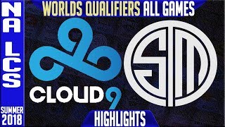 Download C9 vs TSM Highlights ALL GAMES | NA LCS Worlds Qualifiers Final Summer 2018 | Cloud9 vs Team Solomid Video
