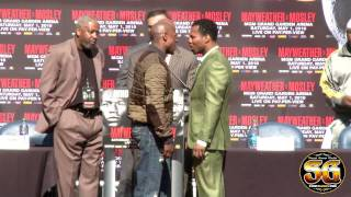 Download Floyd Mayweather & Shane Mosley aggressive face off at press conference, Manny Pacquiao next? Video