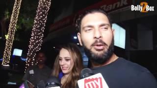 Download Yuvraj Singh & Hazel Keech Spotted In Hakkasan Hotel Video