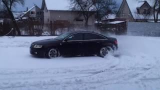 Download Audi A6 C6 2006 3.0TDI S-line Quattro winter snow drift Video