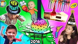 Download A Shattering New Years / Melted Crayola Crayon Art / Too Much Cheesecake Man! (FUNnel Vision Vlog) Video