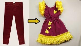 Download فكرة جديده و بسيطة جدآ لتحويل البنطلون القديم الى فستان حلو جداً لا يفوتك Video