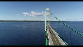 Download Mackinac Bridge drone footage Video