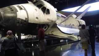 Download Space Shuttle Atlantis Exhibit full pre-show and walkaround at Kennedy Space Center Video